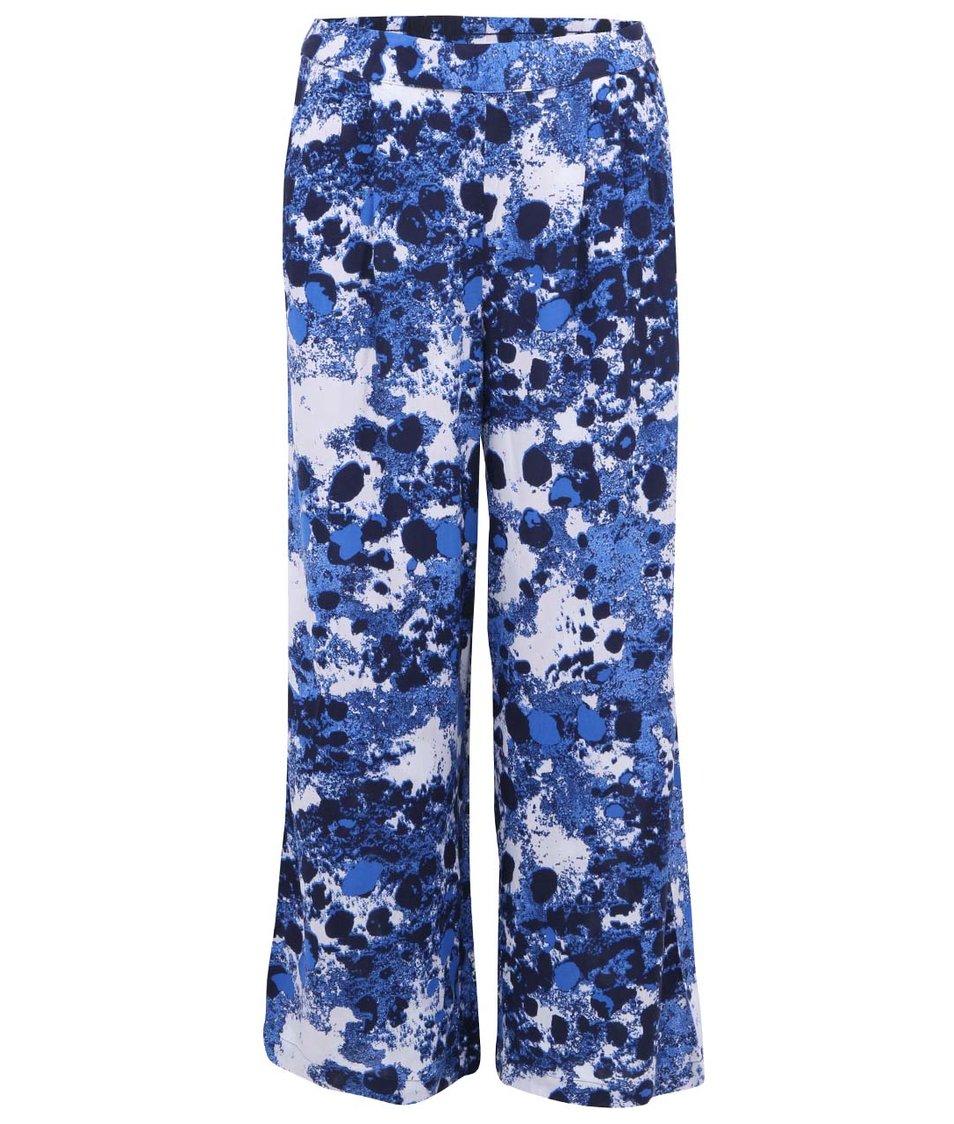 Bílo-modré vzorované volné kalhoty ONLY Choice