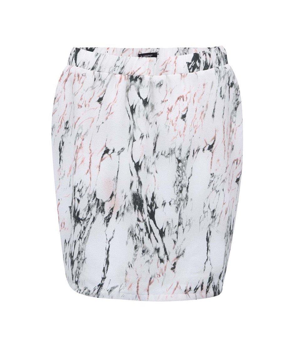 Krémová sukně s mramorovým vzorem b.young Helena