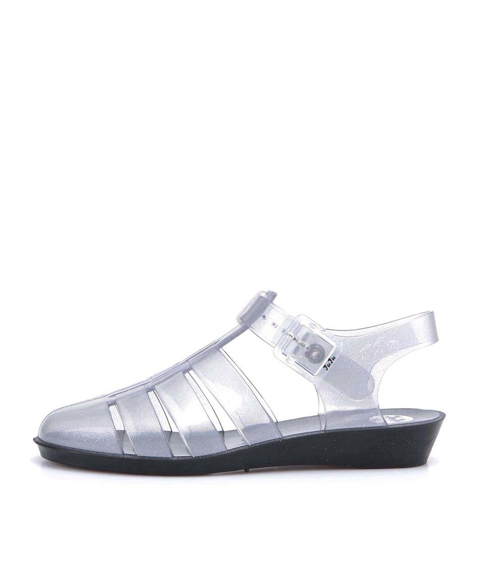 Transparentní plastové sandálky se třpytkami JuJu Tinkerbelle