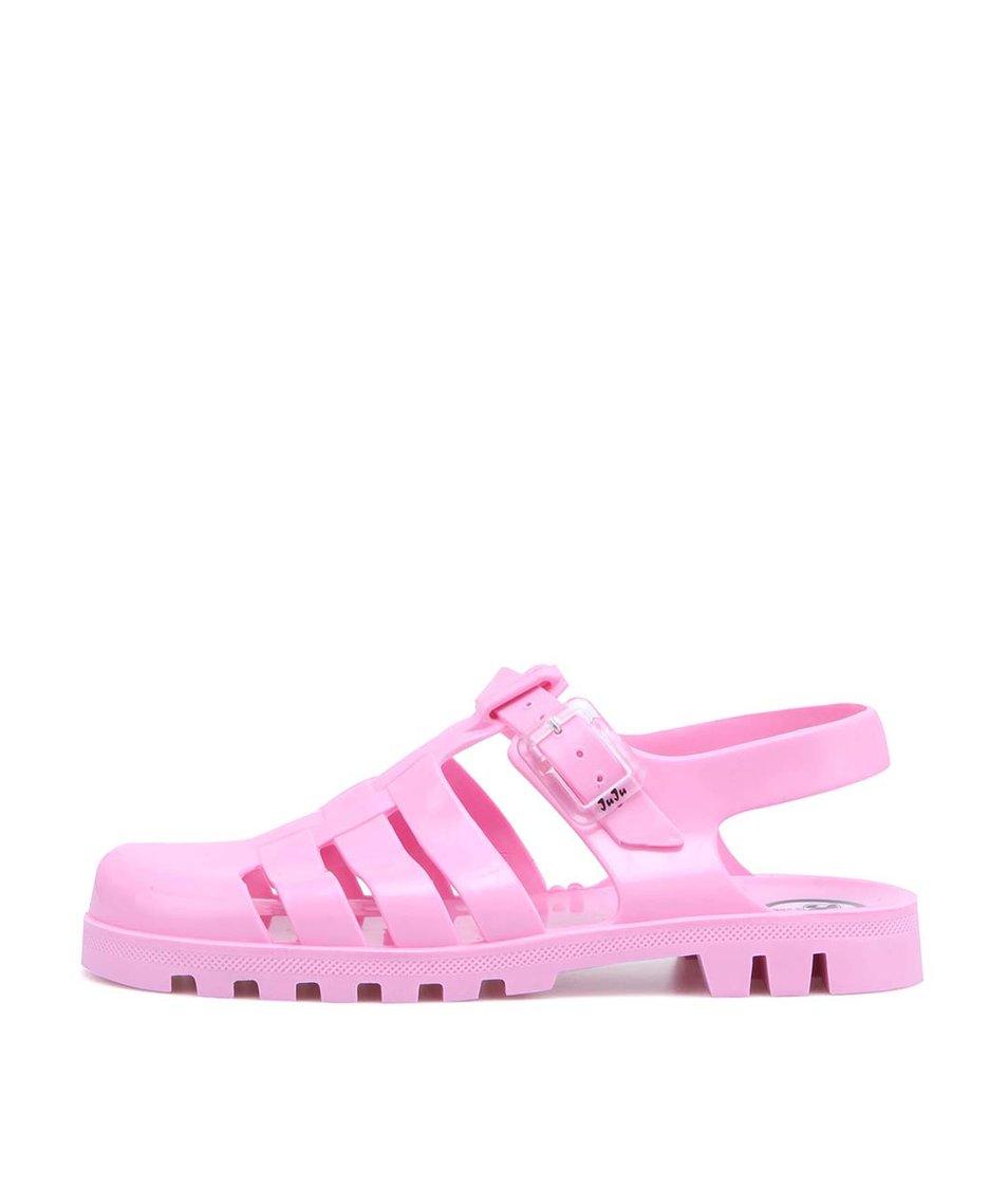 Růžové plastové sandálky JuJu Maxi