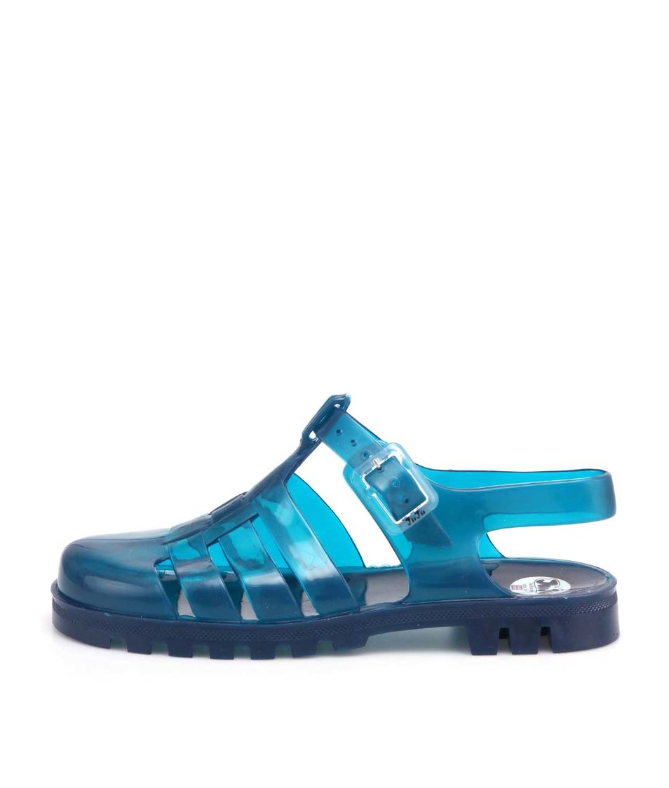 Tyrkysové transparentní plastové sandálky JuJu Maxi