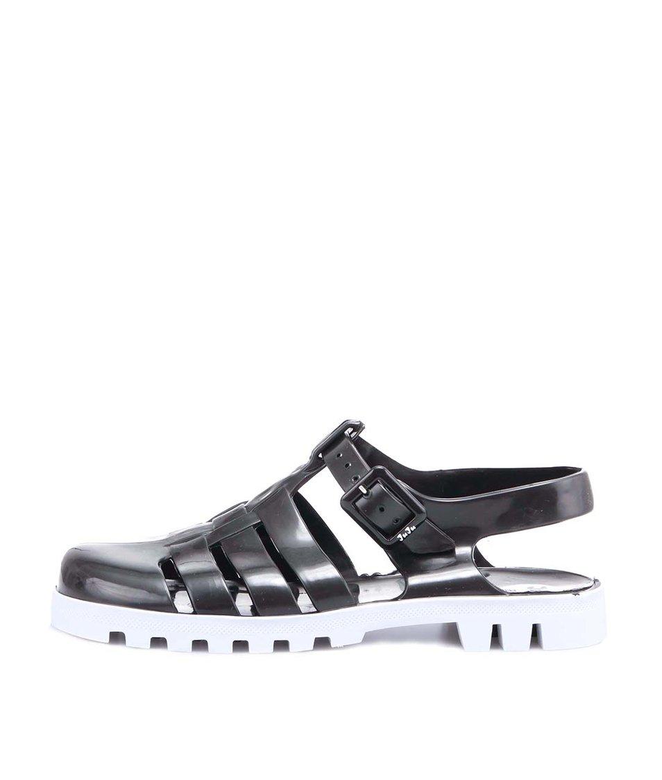 Bílo-černé plastové sandálky JuJu Maxi