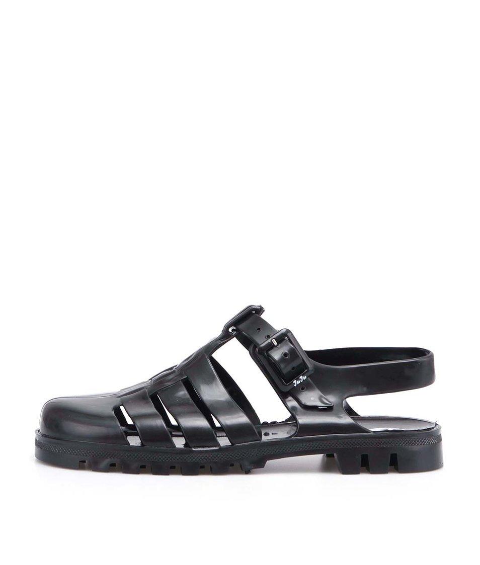 Černé plastové sandálky JuJu Maxi