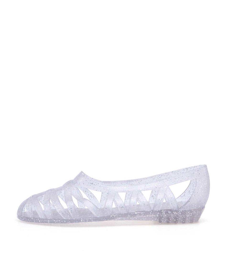 Transparentní plastové baleríny se třpytkami JuJu Vicky