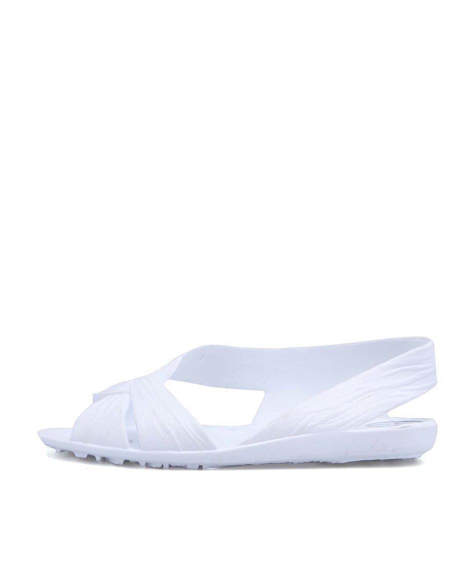 Bílé plastové otevřené balerínky JuJu Fergie