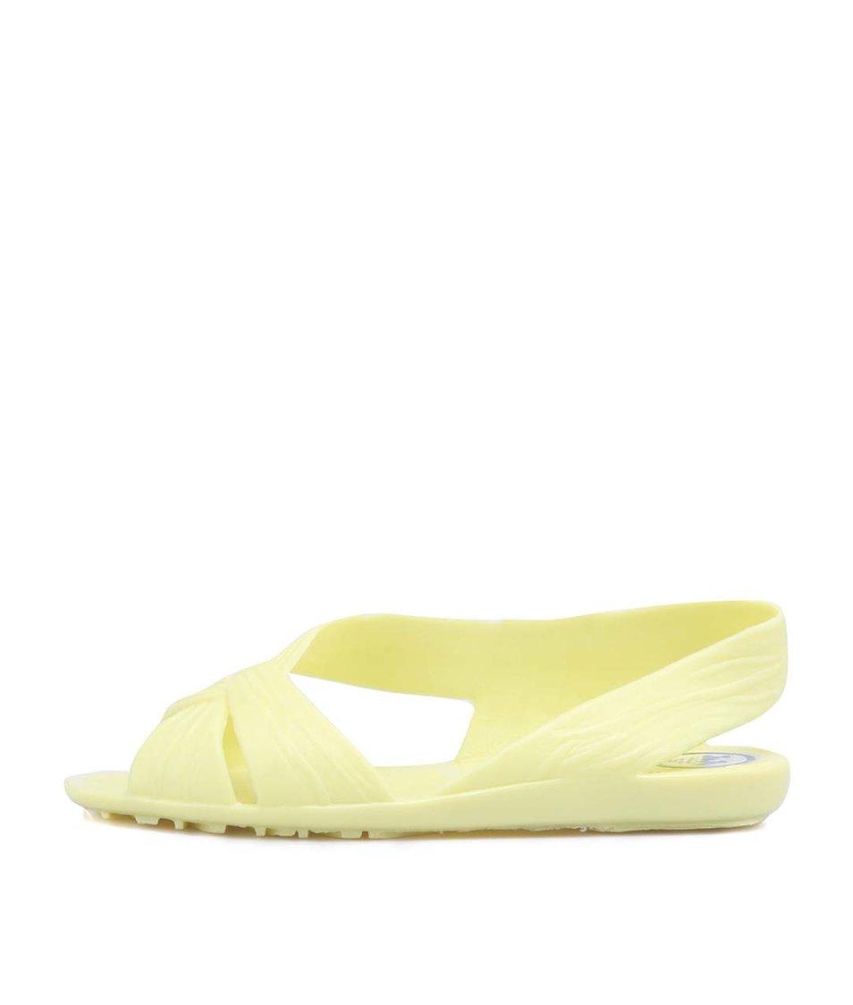 Žluté plastové otevřené balerínky JuJu Fergie