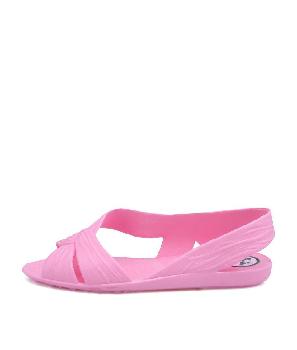 Růžové plastové otevřené balerínky JuJu Fergie