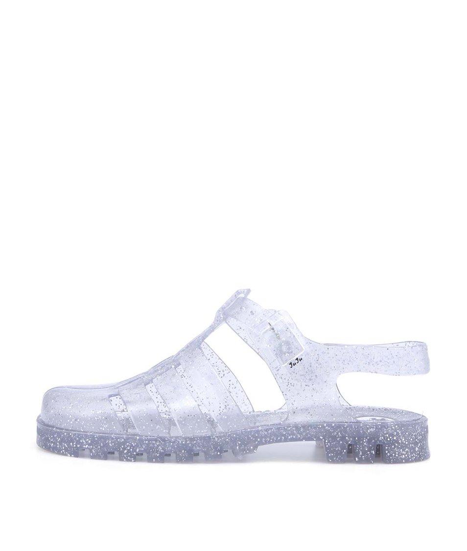 Transparentní plastové sandálky se třpytkami JuJu Maxi