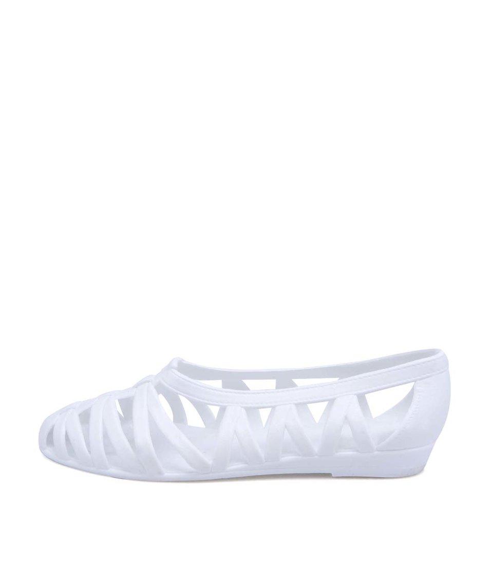 Bílé plastové baleríny JuJu Vicky