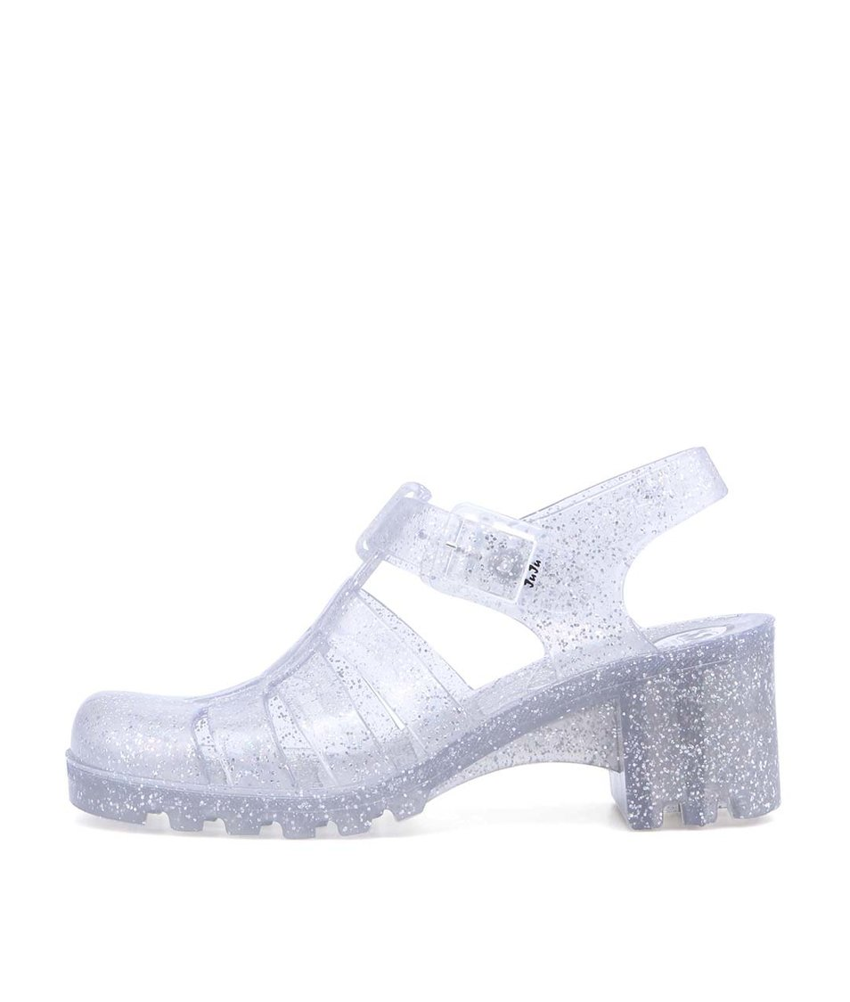 Transparentní plastové sandálky se třpytkami JuJu Babe