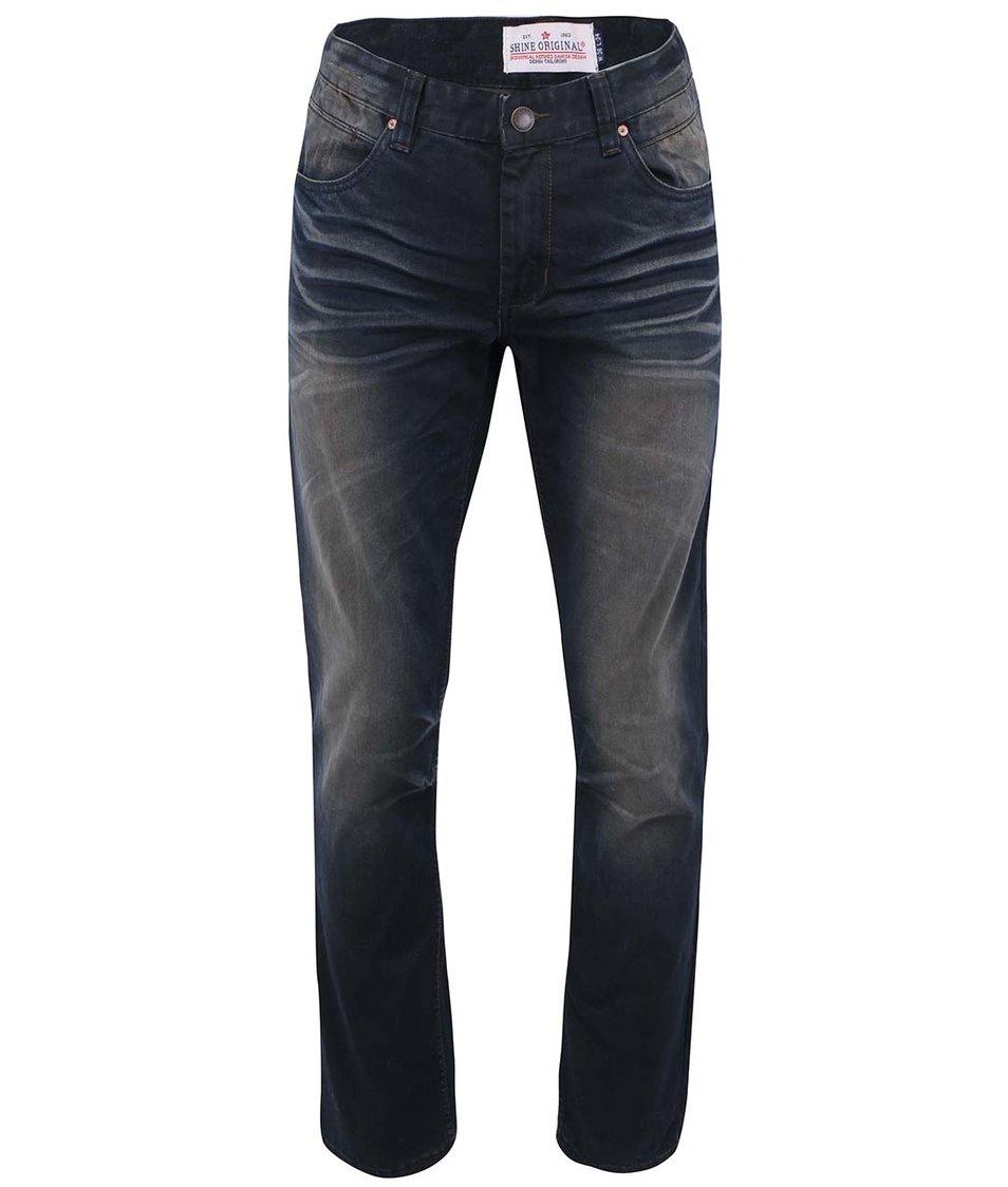 Tmavě modré džíny s ošoupaným efektem Shine Original Brooklyn