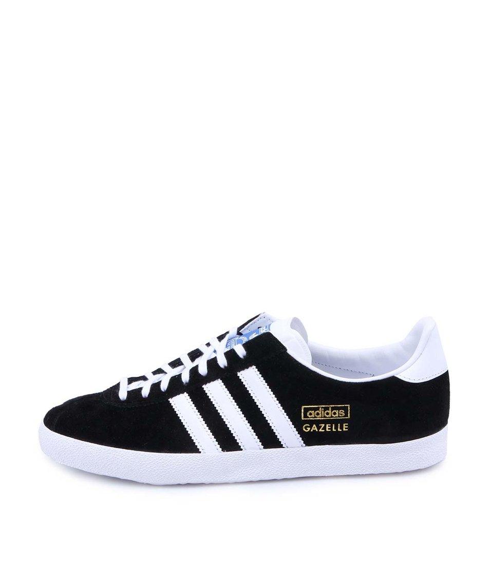Bílo-černé pánské semišové tenisky adidas Originals Gazelle