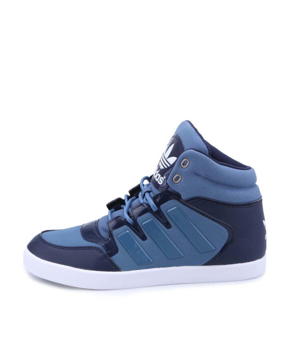 Modré pánské kotníkové tenisky adidas Originals Dropstep