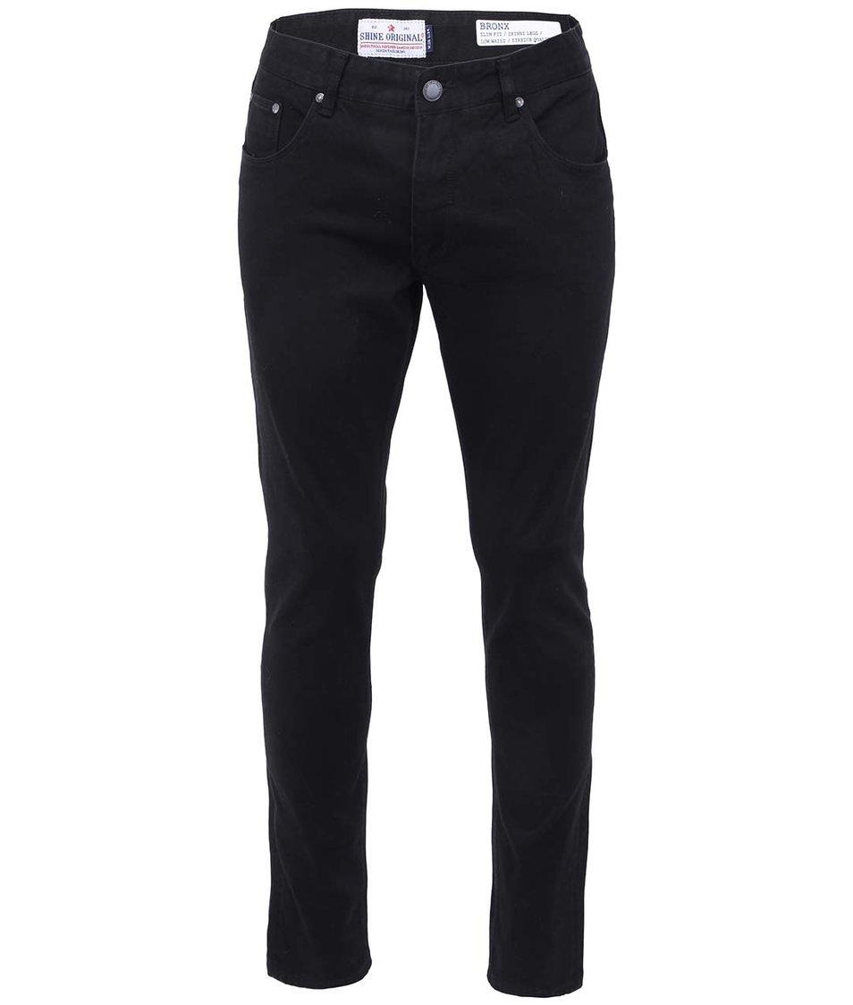 Černé úzké džíny Shine Original Bronx