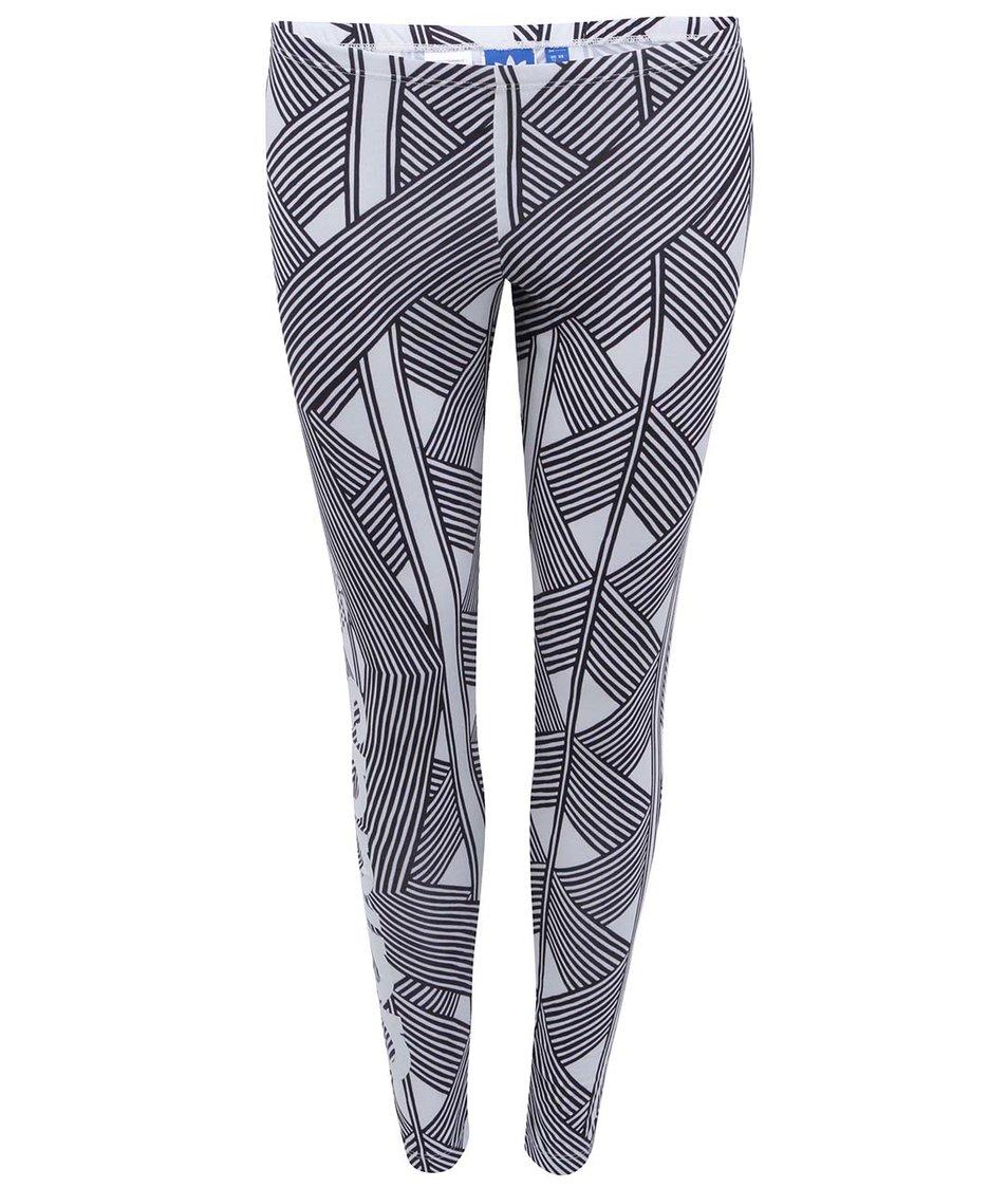 Bílo-černé dámské legíny adidas Originals