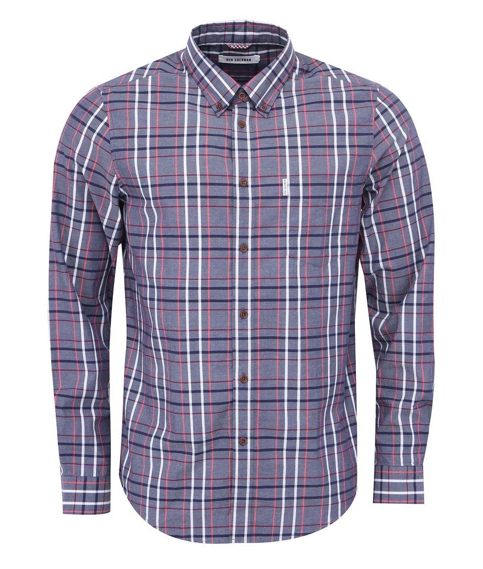 Modro-bílá kostkovaná košile Ben Sherman
