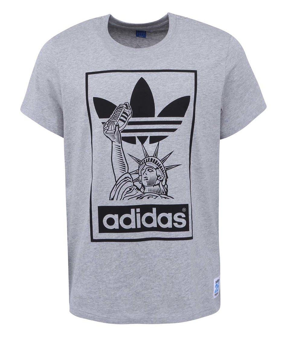 Šedé pánské tričko adidas Originals NYC Superstar