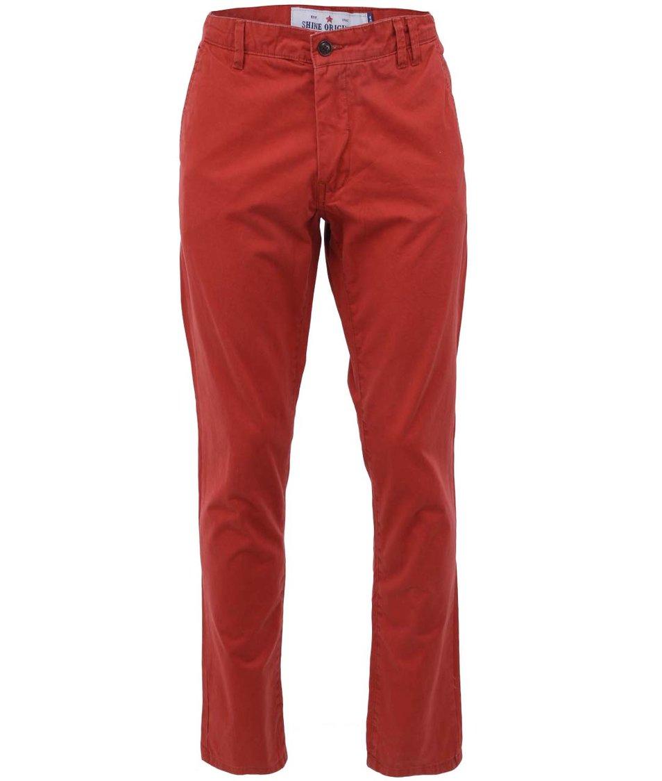 Červené chino kalhoty Shine Original