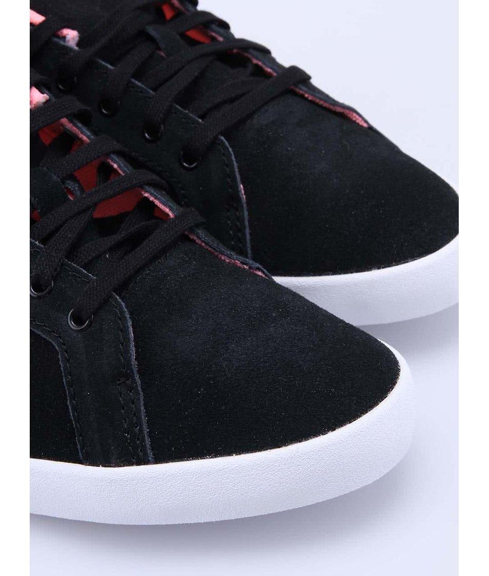 eed8753fc ... Růžovo-černé dámské kožené tenisky adidas Originals Miss Stan ...
