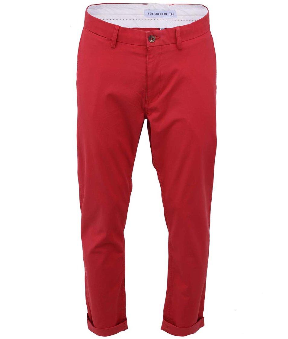 Červené slim chino kalhoty Ben Sherman
