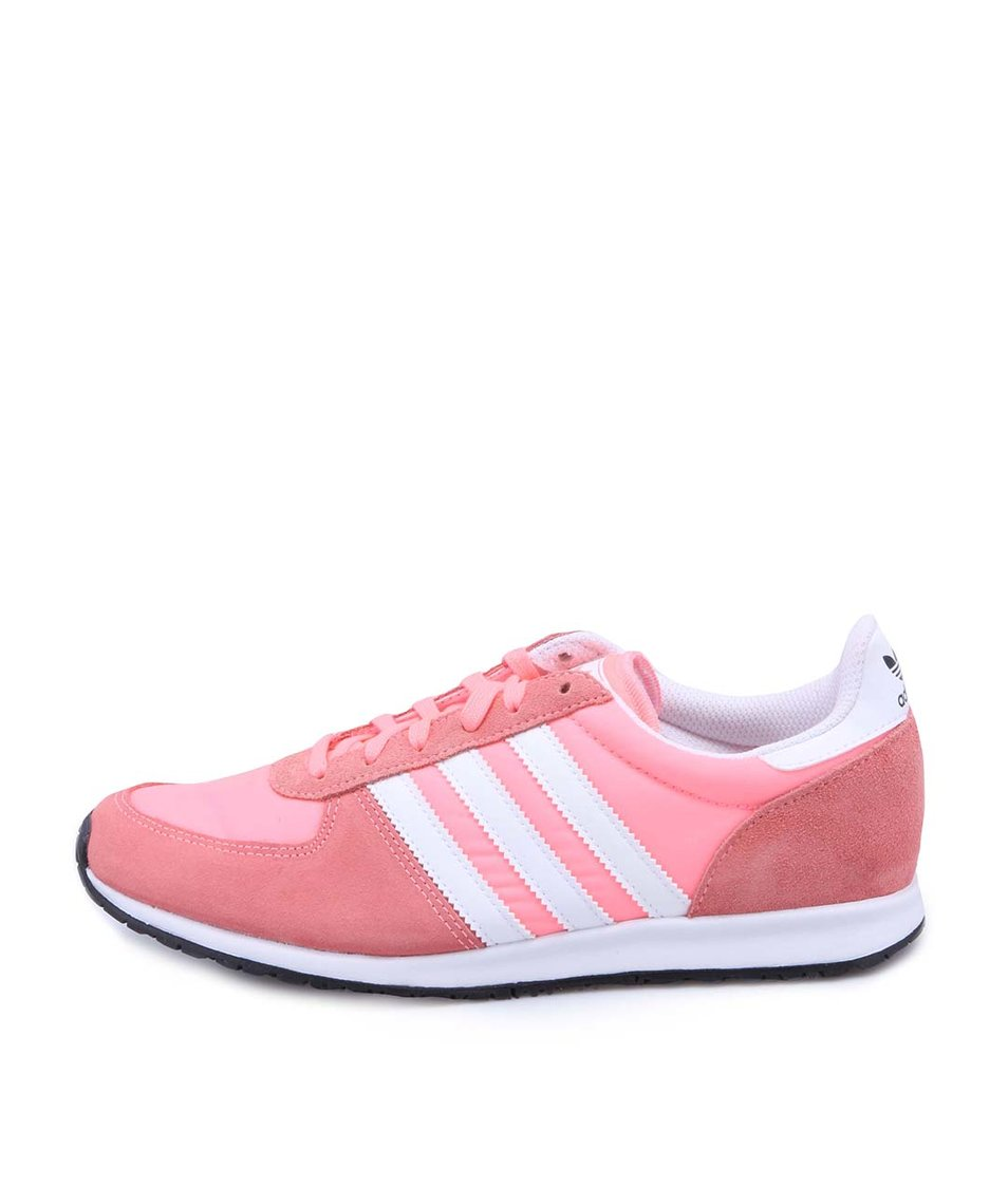Růžové dámské tenisky s koženými detaily adidas Originals Adistar Racer