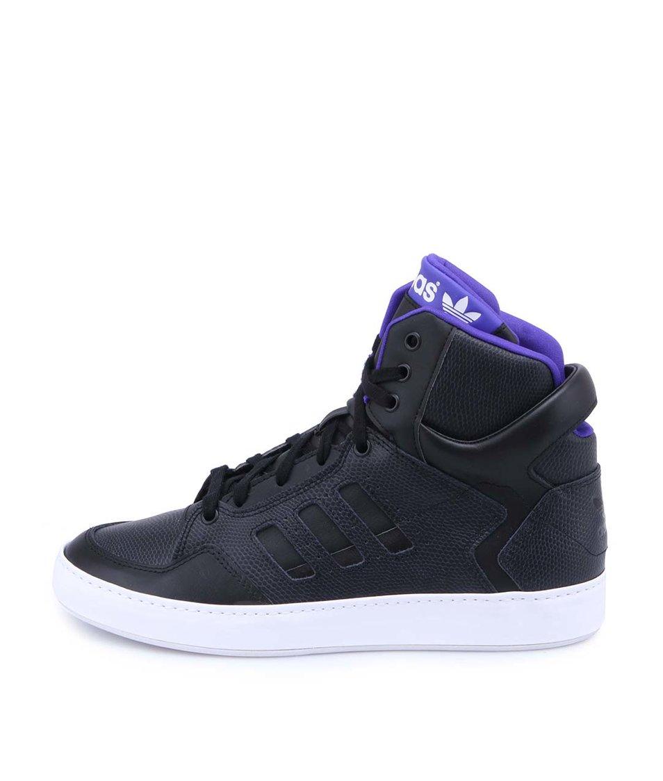 Černé dámské kožené kotníkové tenisky adidas Originals Bankshot