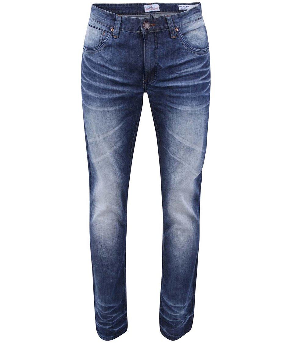 Modré džíny s ošoupaným efektem Shine Original Harlem
