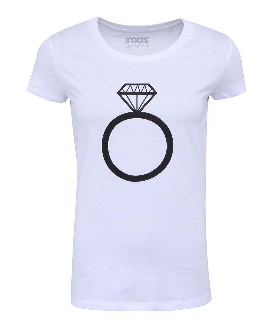 Bílé dámské tričko ZOOT Originál Prsten