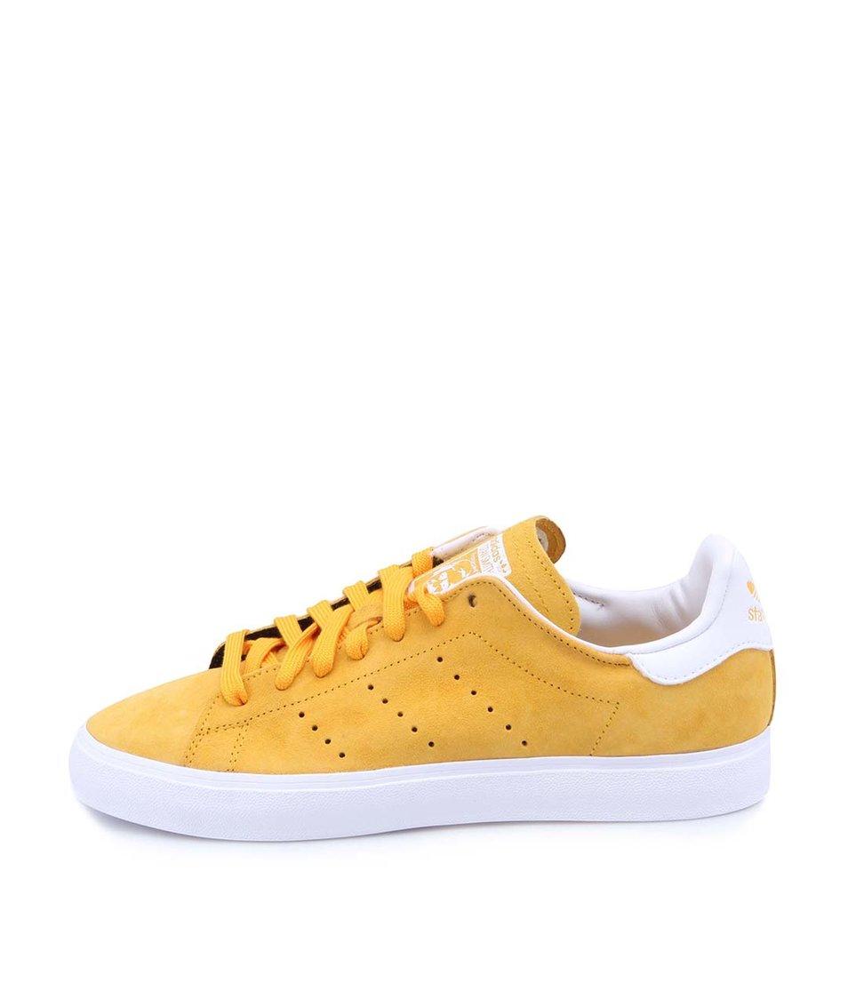Žluté kožené unisex tenisky adidas Originals Stan