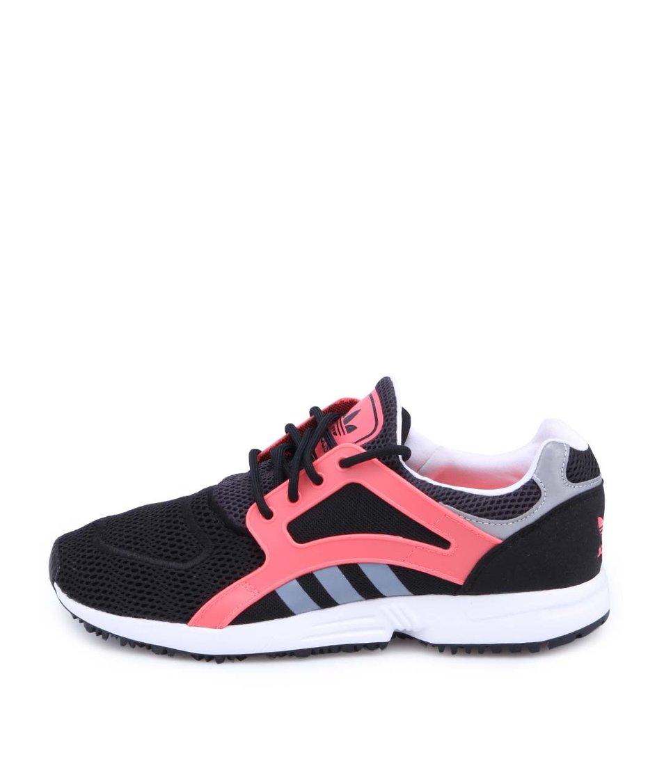 Růžovo-černé dámské tenisky adidas Originals Racer Lite