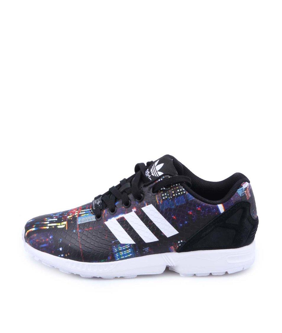 Černé dámské kožené tenisky se vzory adidas Originals