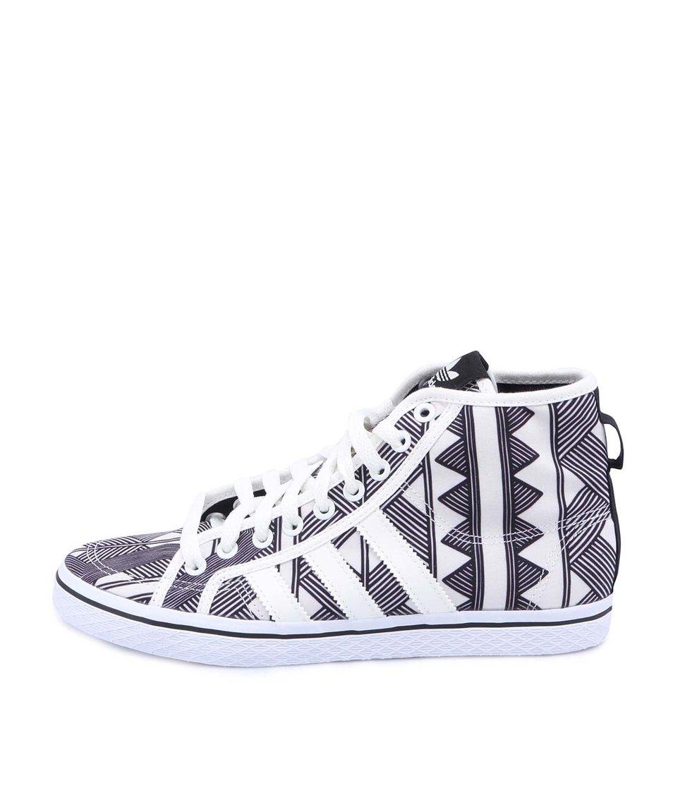 Černo-bílé dámské kotníkové tenisky adidas Originals Honey