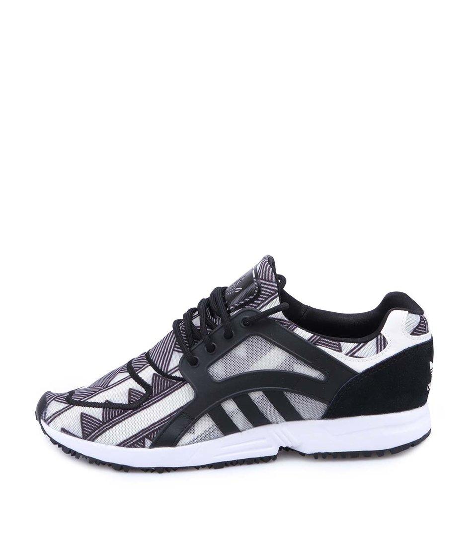 Černo-bílé vzorované dámské tenisky adidas Originals Racer Lite