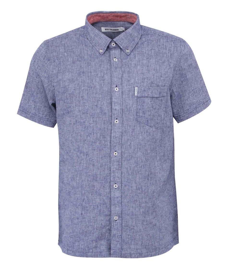 Tmavě modrá žíhaná košile Ben Sherman