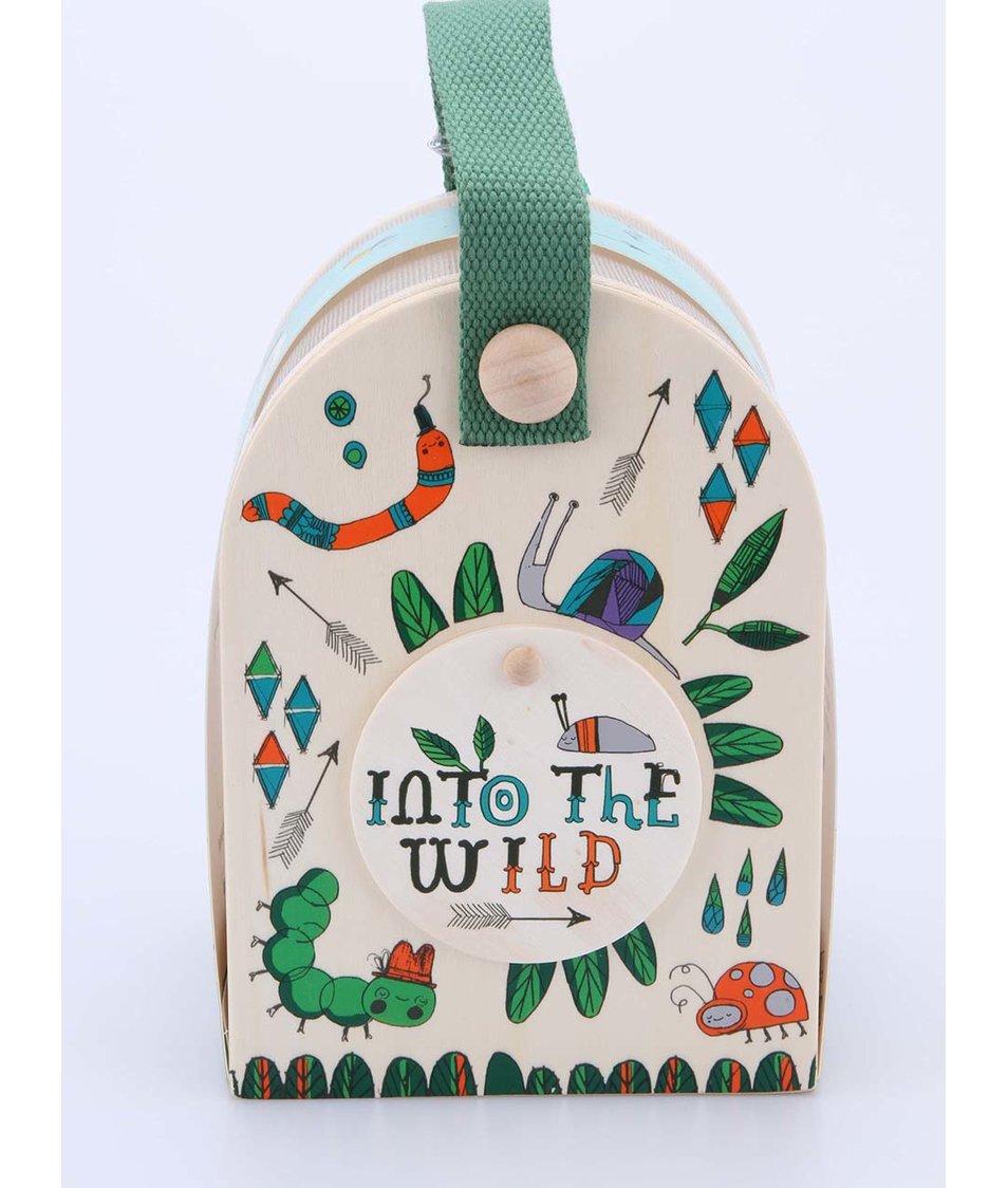 Dřevěná malovaná sada pro pozorování hmyzu Thoughtful Gardener