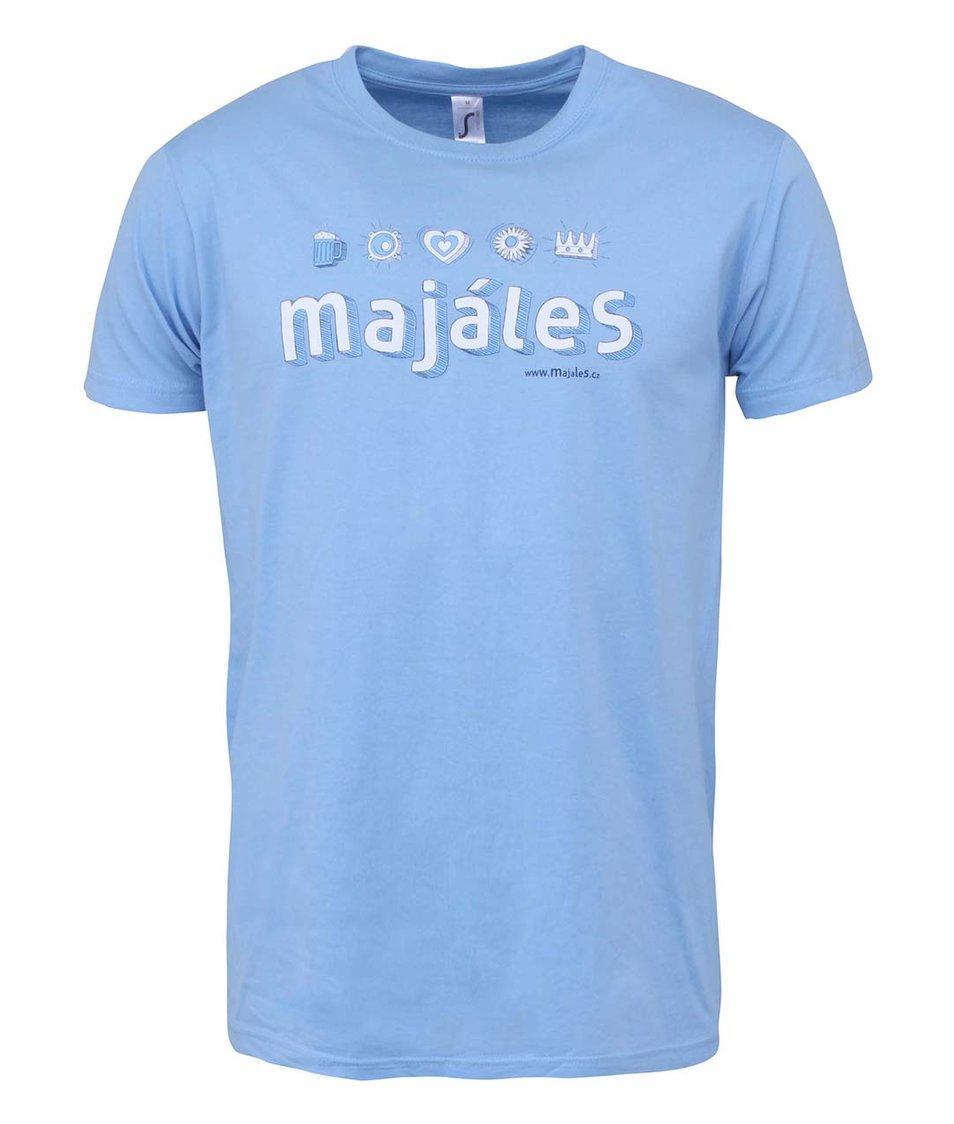 Modré pánské triko Majáles