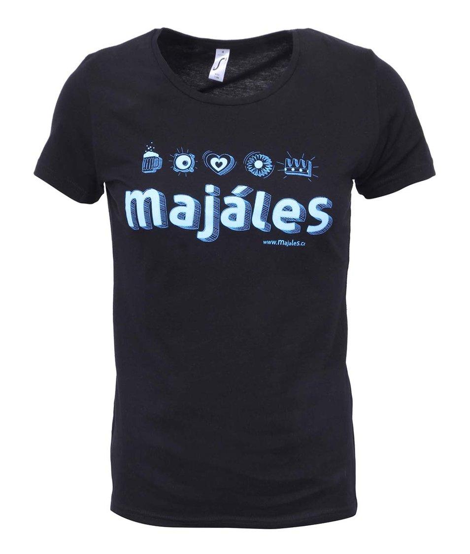 Černé dámské tričko Majáles