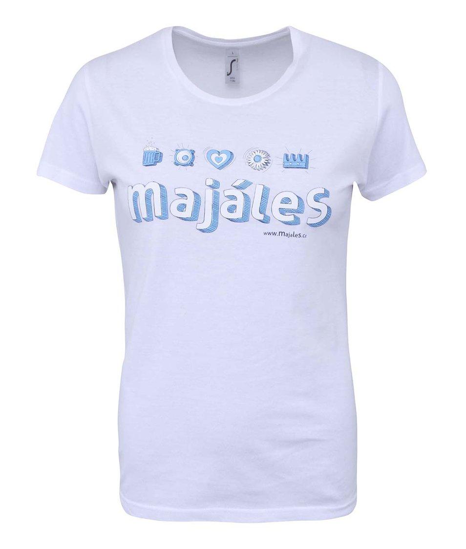 Bílé dámské tričko Majáles