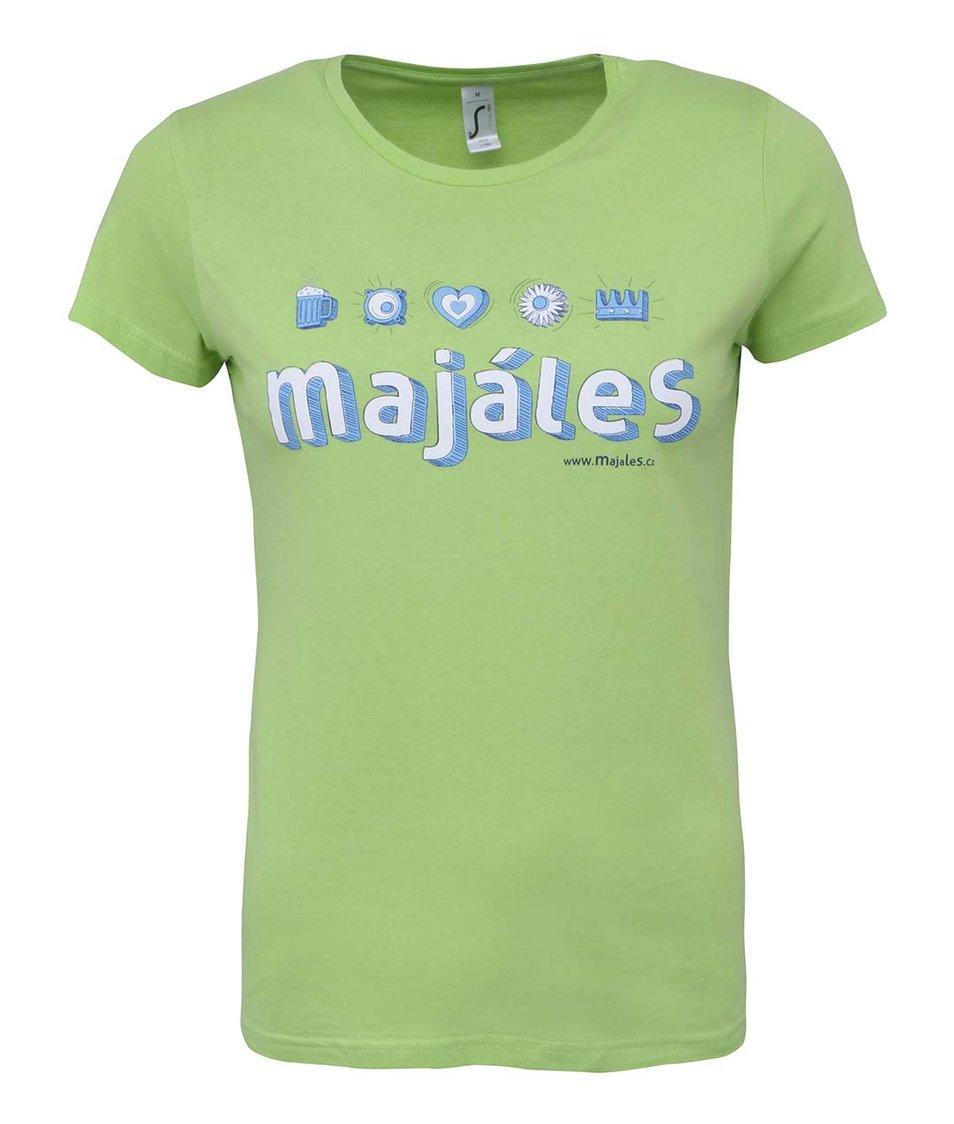 Zelené dámské tričko Majáles