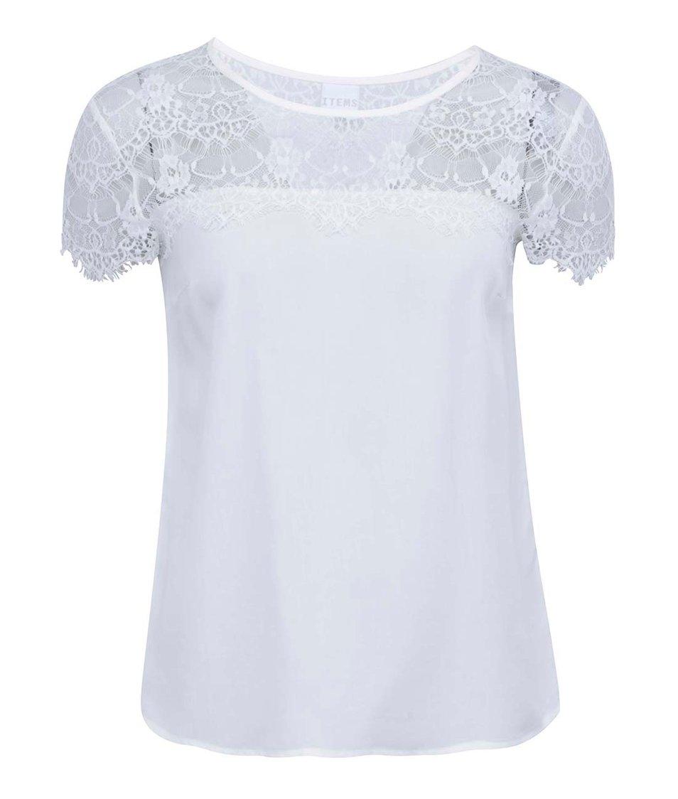 Bílý volnější top s krajkovým detailem Vero Moda Tammi