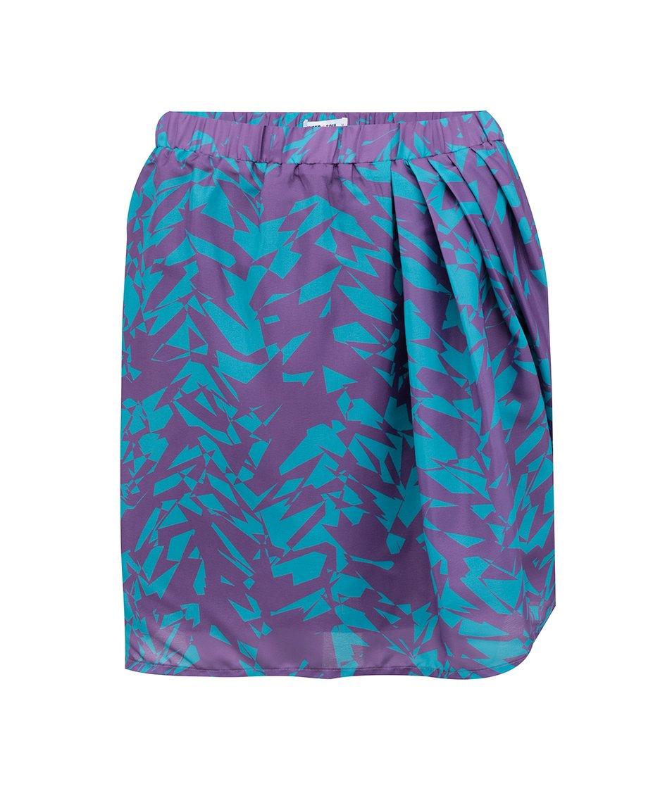 Tyrkysovo-fialová vzorovaná sukně GINGER+SOUL