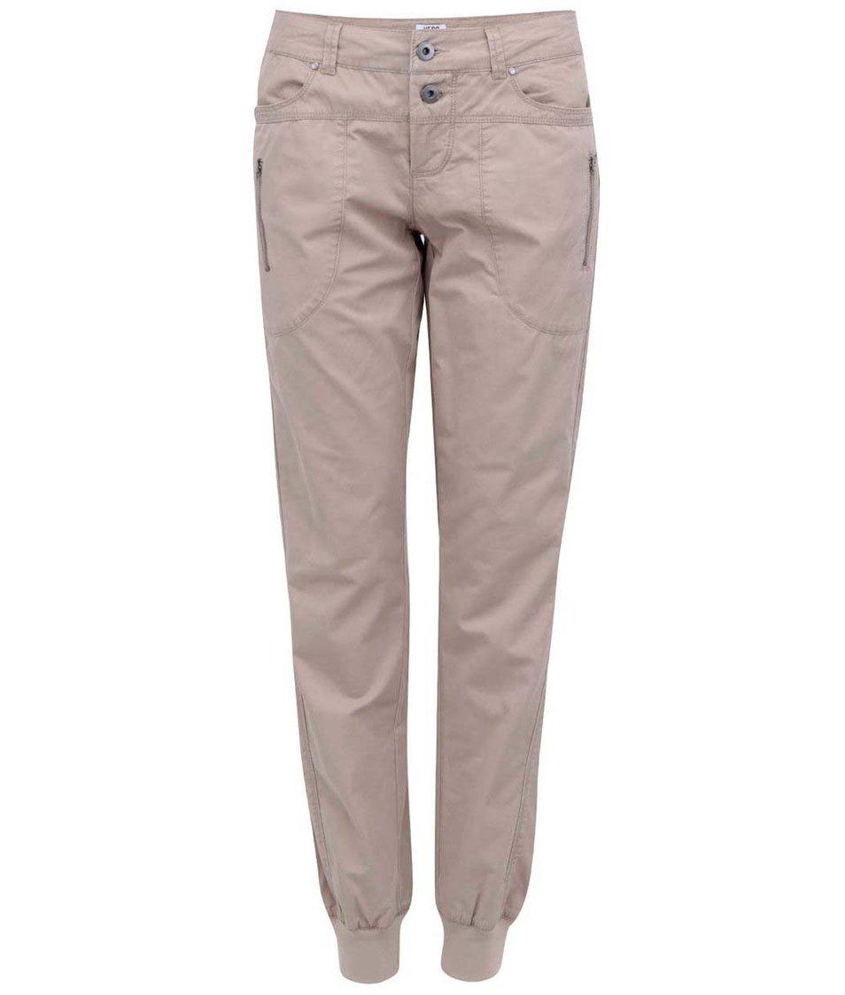 Béžové kalhoty Vero Moda Mojo