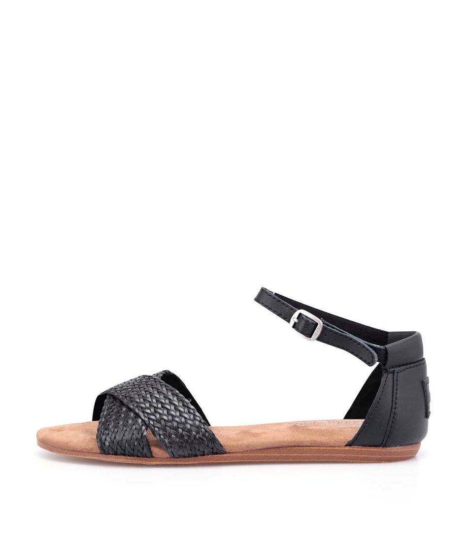 Černé páskové sandálky Toms Correa