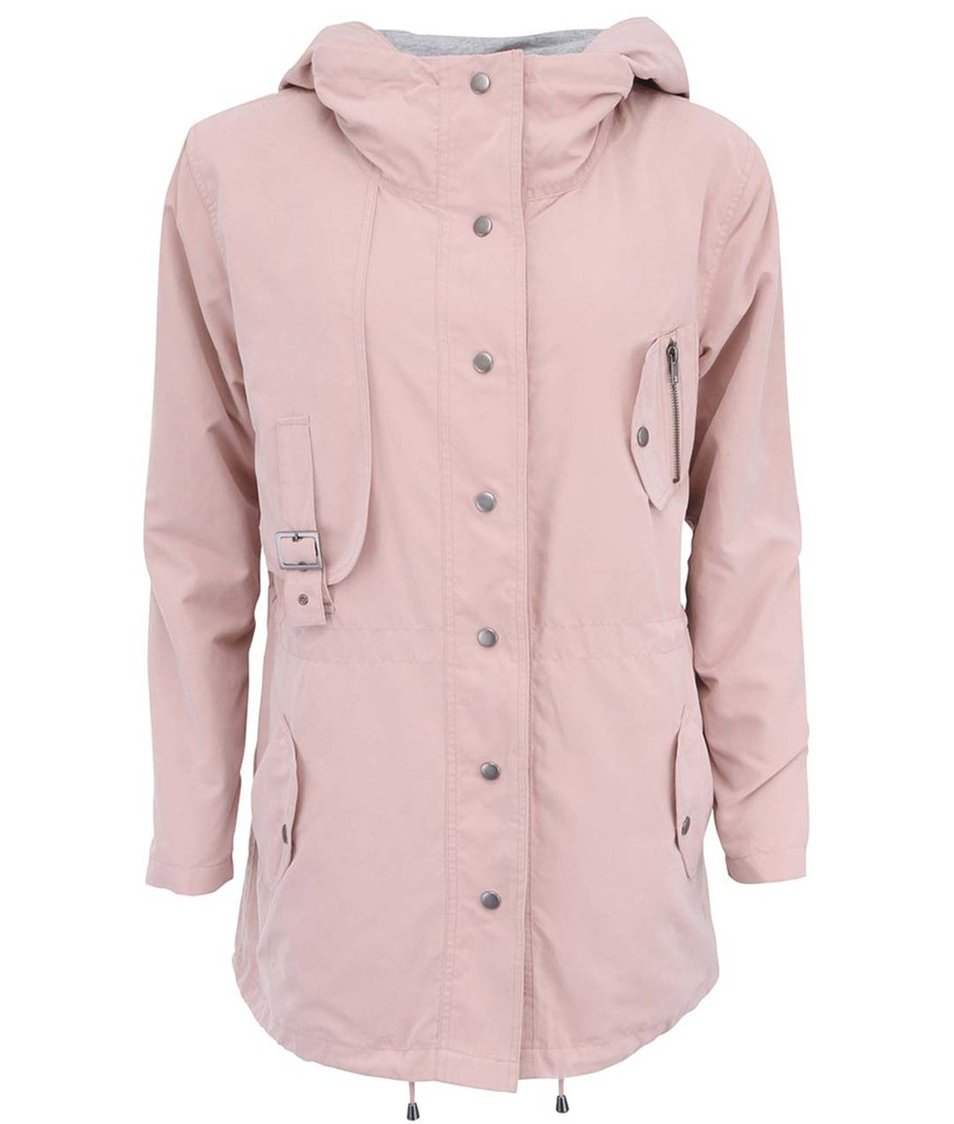 Světle růžová parka s kapucí YAYA Jacket