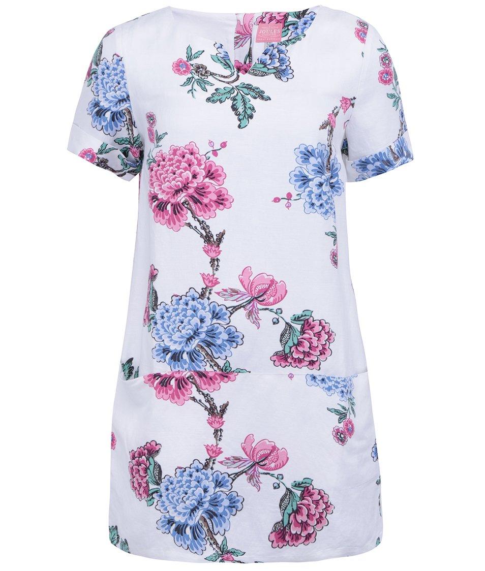 Bílé květované lněné šaty Tom Joule Abington