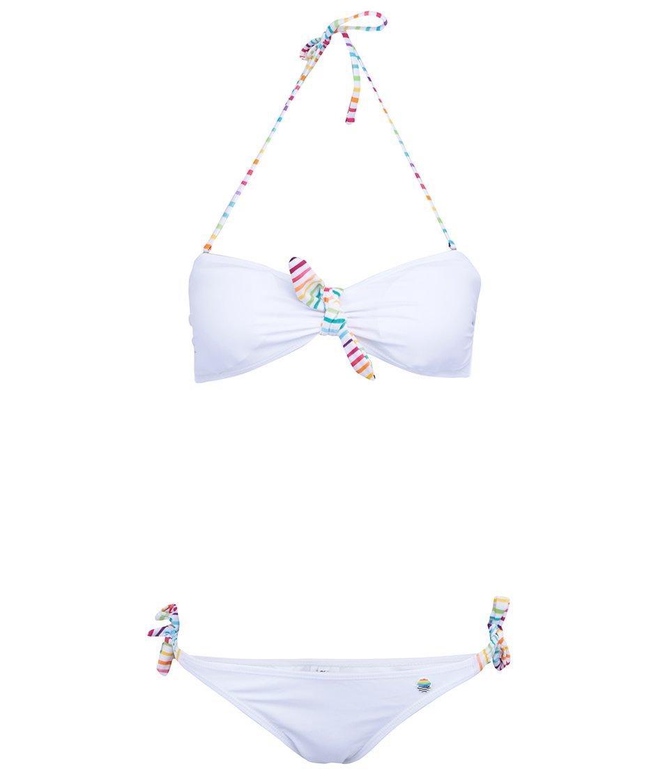 Bílé plavky s pruhovanými mašličkami Little Marcel Bali