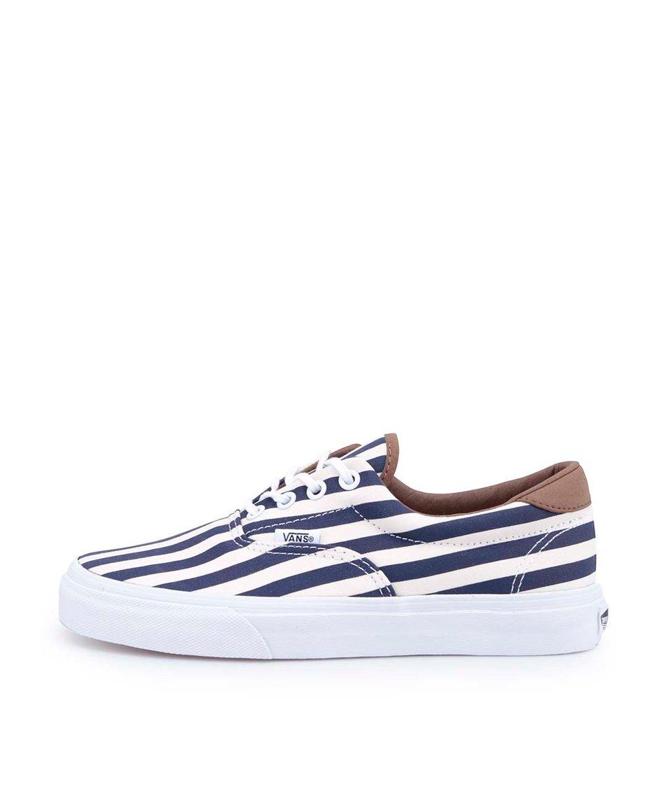 Modro-bílé pruhované dámské tenisky Vans Era 59