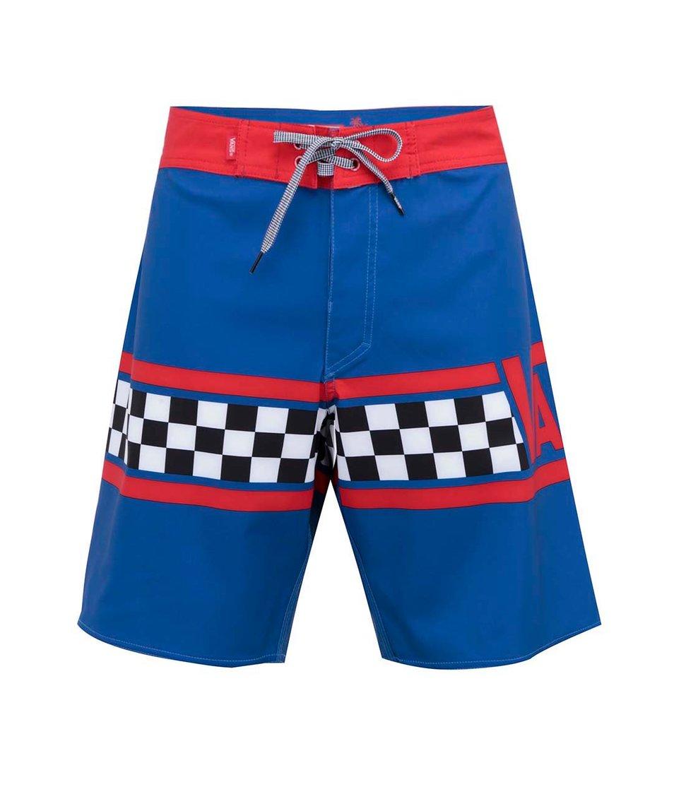 Červeno-modré pánské plavky Vans Getting Crit