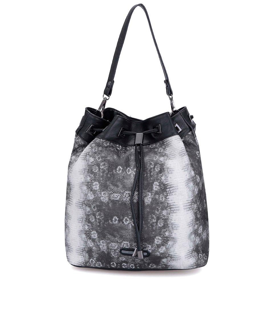 Černá kabelka s hadím vzorem Love Juno
