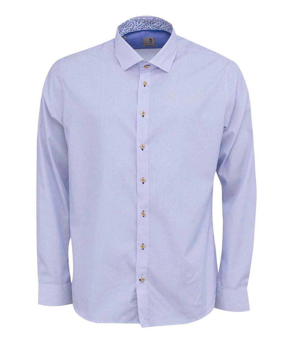 Modro-bílá pruhovaná košile Seidensticker Joe Detail Slim Fit
